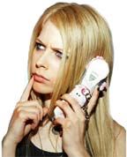 avril lavigne with her fun friends cell phone cover