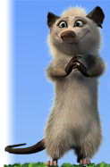 Avril Lavigne's Possum Character Heather in Over the Hedge